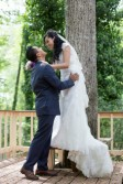 couple by tall tree
