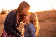 Atlanta family photographer sunset image of mom and daughter