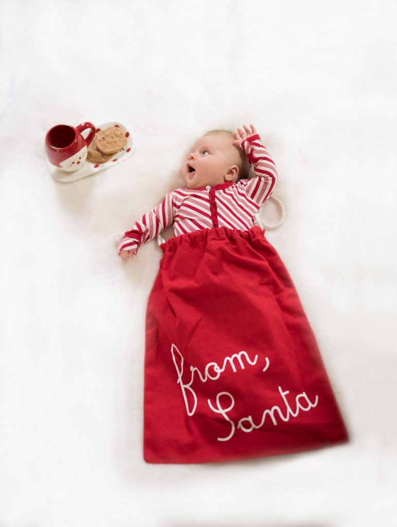 atlanta newborn session christmas styled
