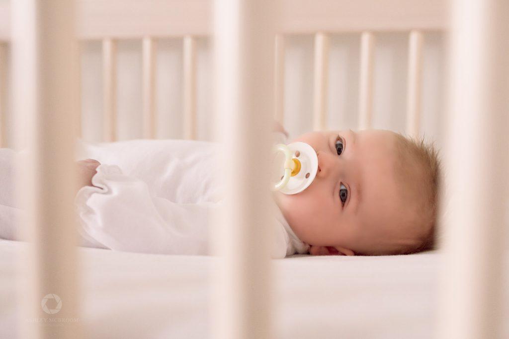 Atlanta newborn in crib