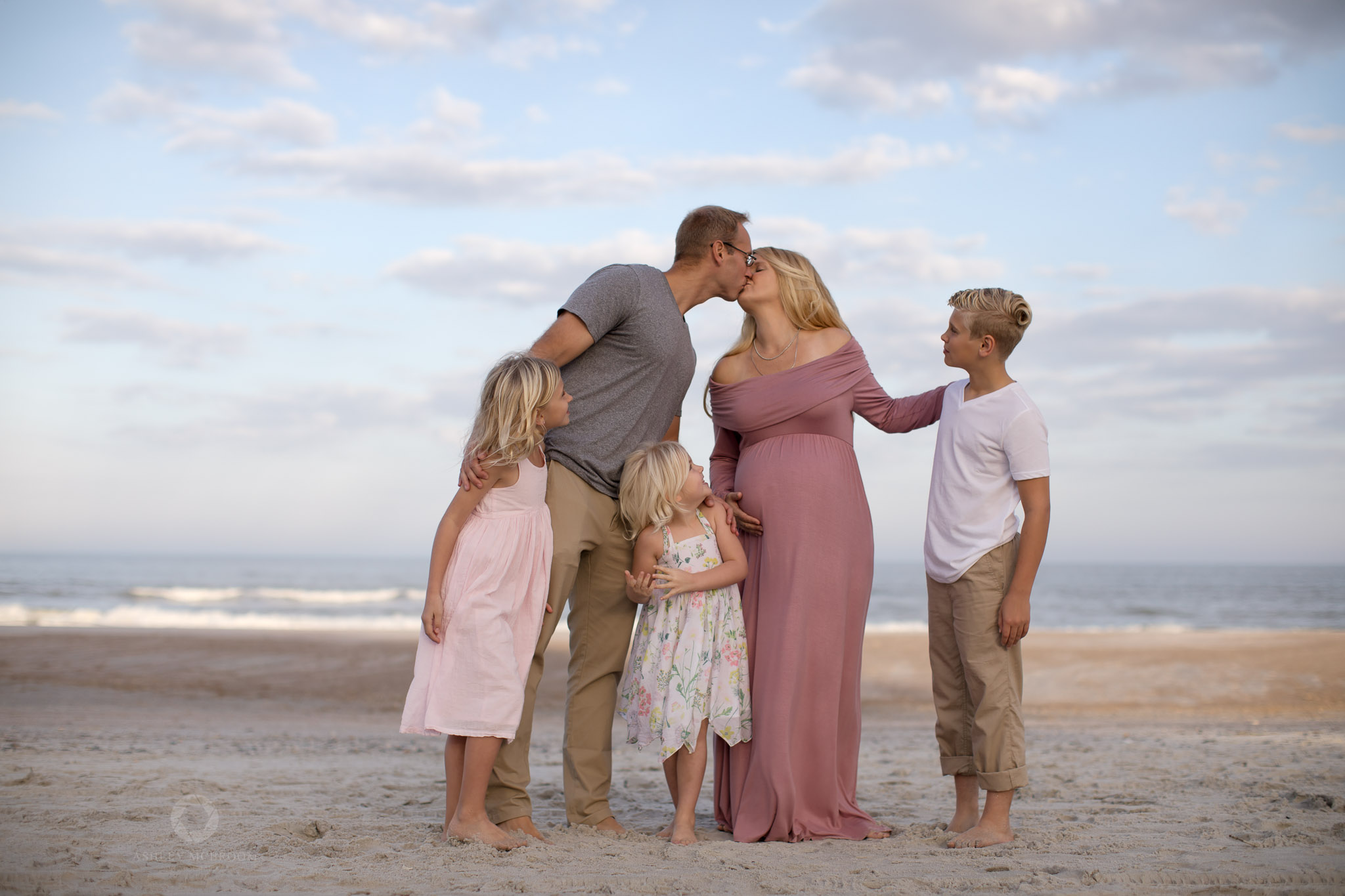 Family of 5 plus one on the way atlanta maternity photo