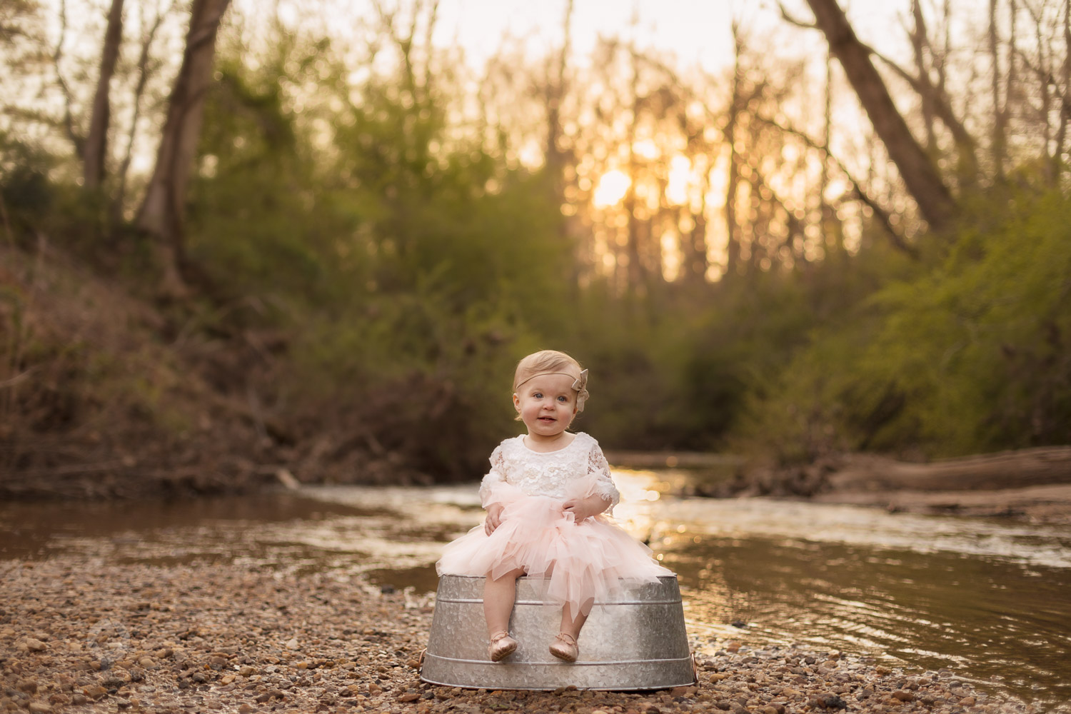 Creek photo shoot one year old east cobb