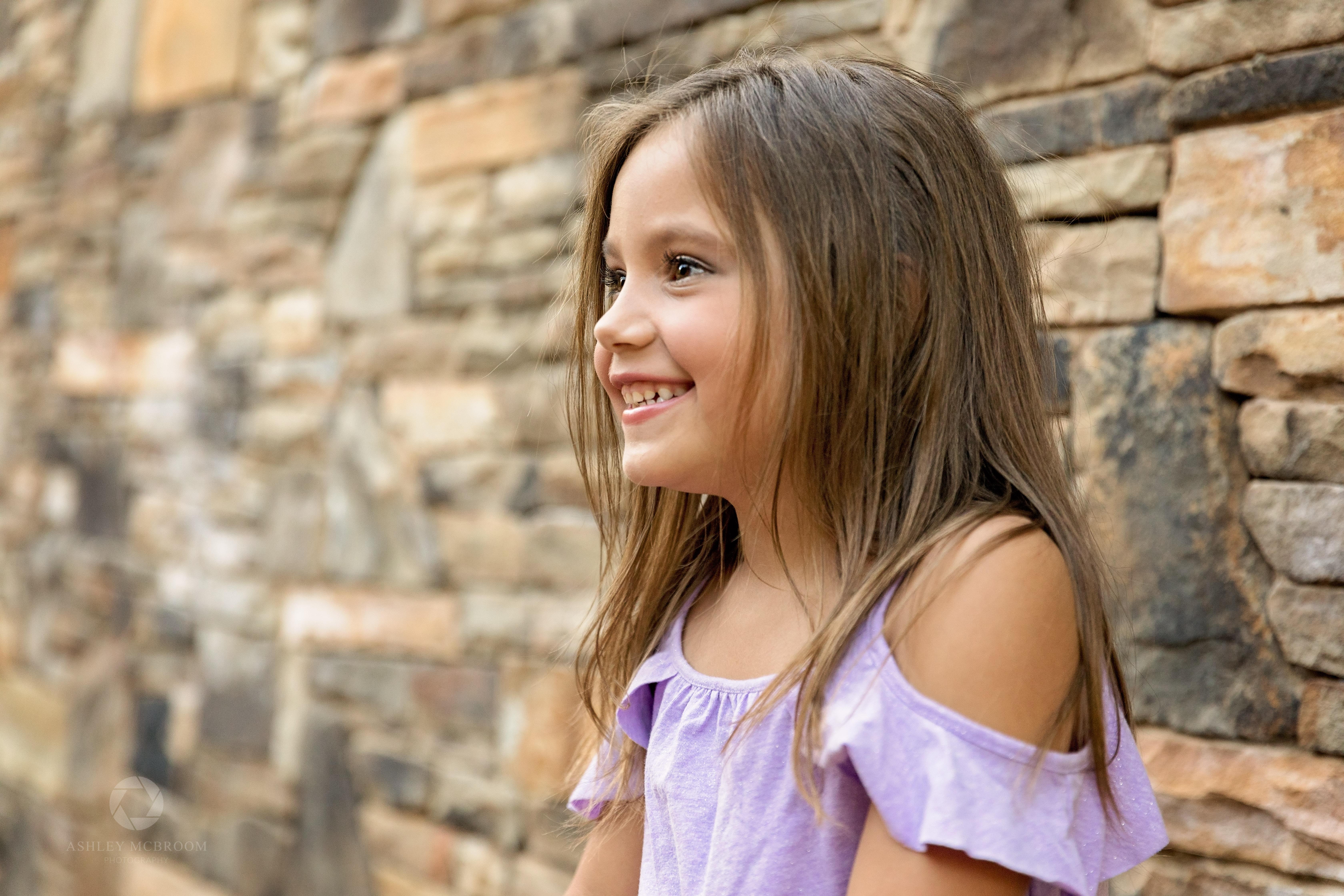 5 year old child profile shot