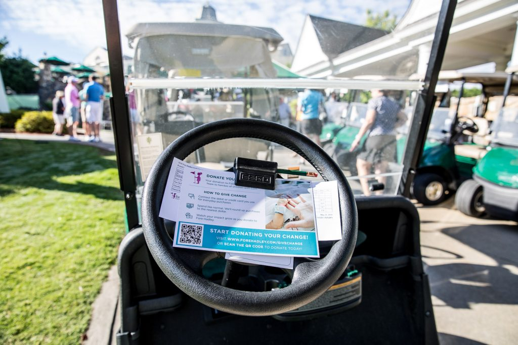 card inside golf cart