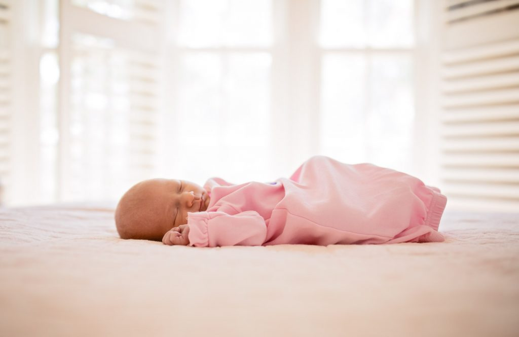 roswell newborn photography sleeping baby girl