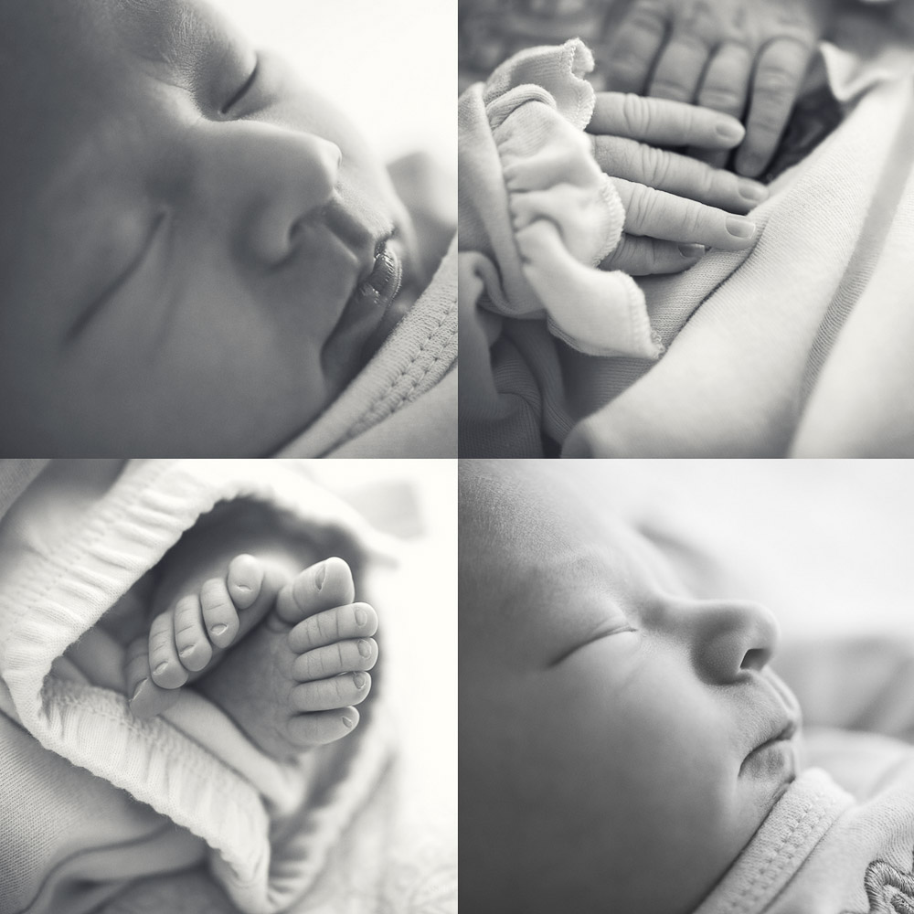 roswell newborn photography black and white details