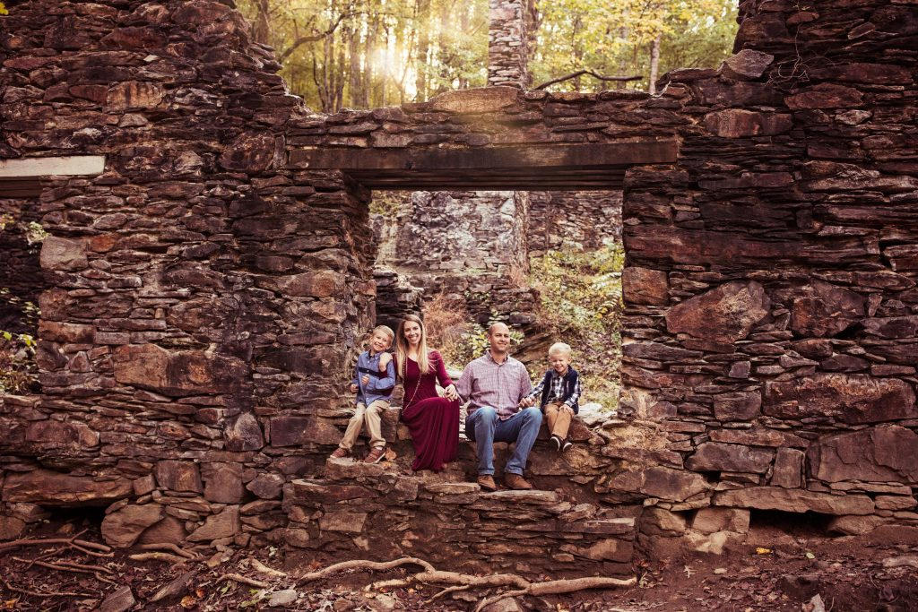 Sope Creek paper mill ruins family photos