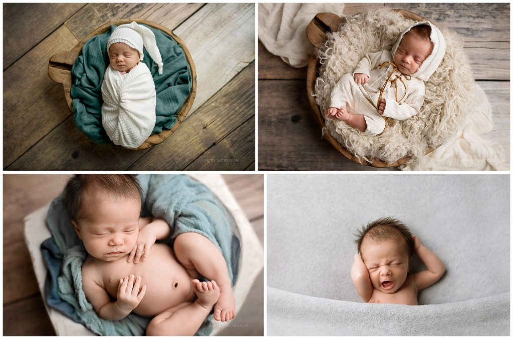 baby in baskets in dunwoody photo session