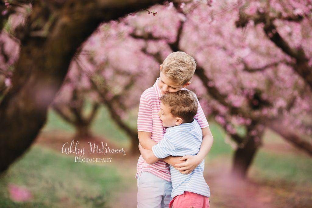 ashley mcbroom photography peach blossom session