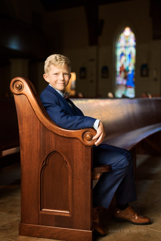 Roswell first communion portrait