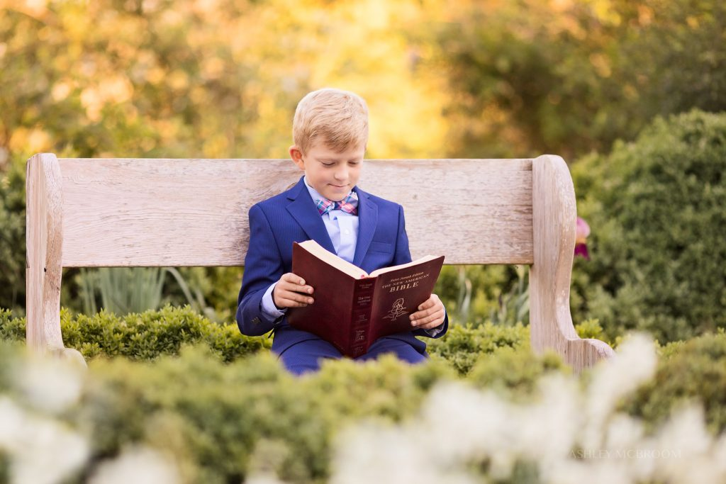 boy reading bible in Roswell