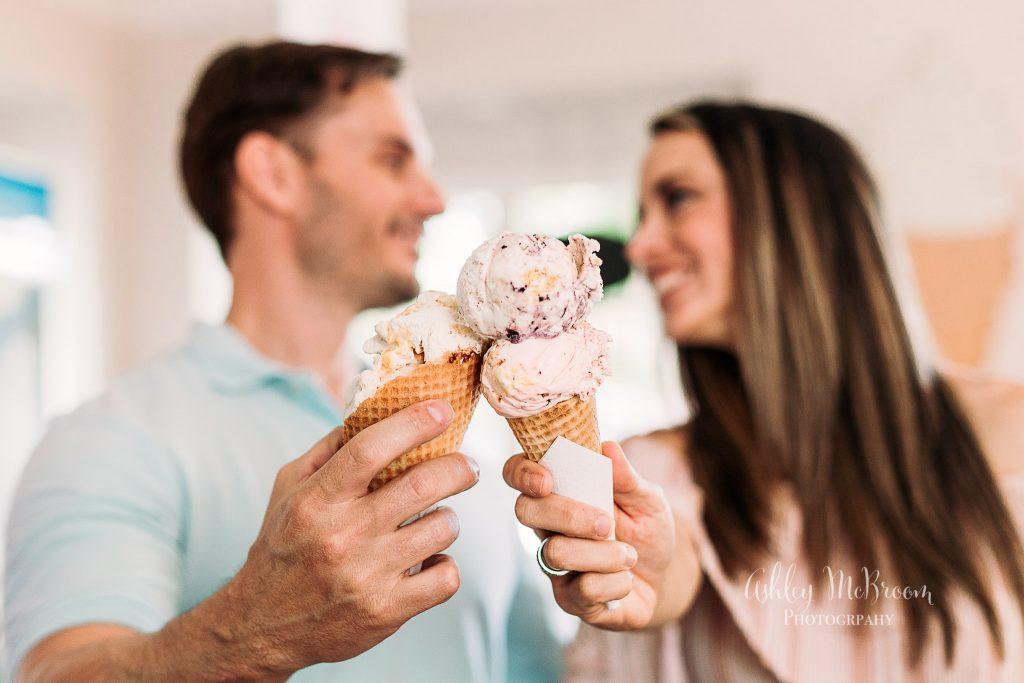 Alpharetta family photography ice cream session