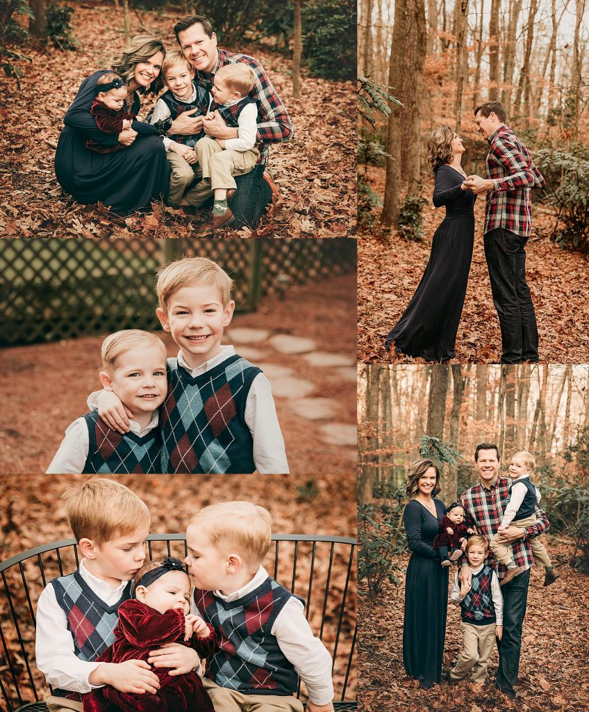 family of 5 during their photo session