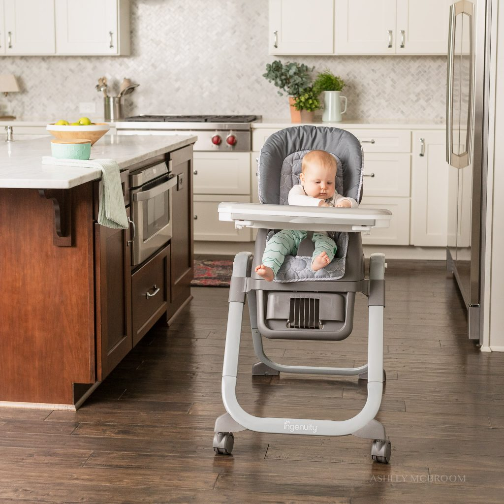 baby in chair during atlanta commercial photographer shoot