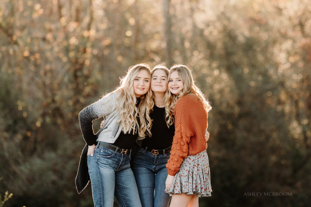 sisters during photo session in Canton GA