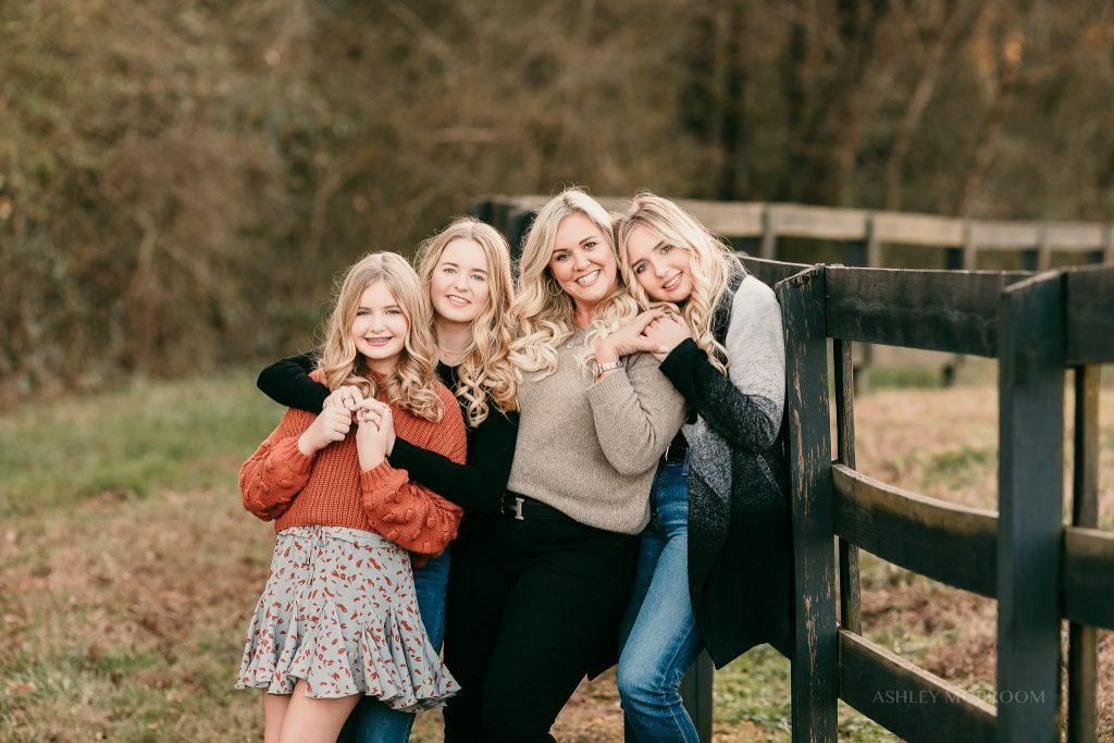 2020 canton photo session mom and girls