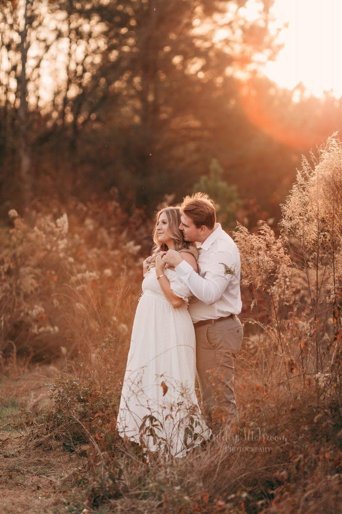 Atlanta maternity photography in a field