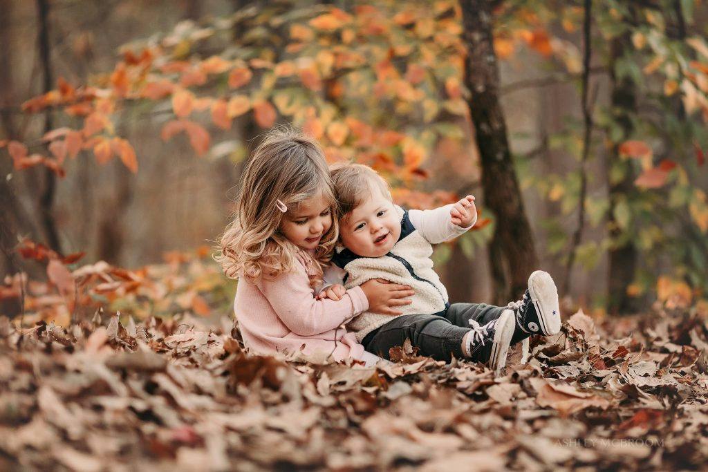 brother and sister together during family photos